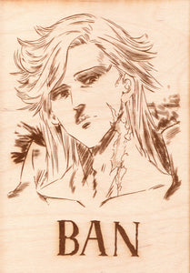 Seven Deadly Sins - Ban Wooden Wanted Poster - TantrumCollectibles.com