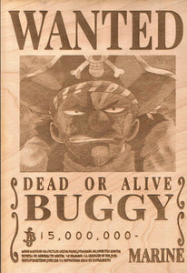 One Piece -Buggy Wanted Poster