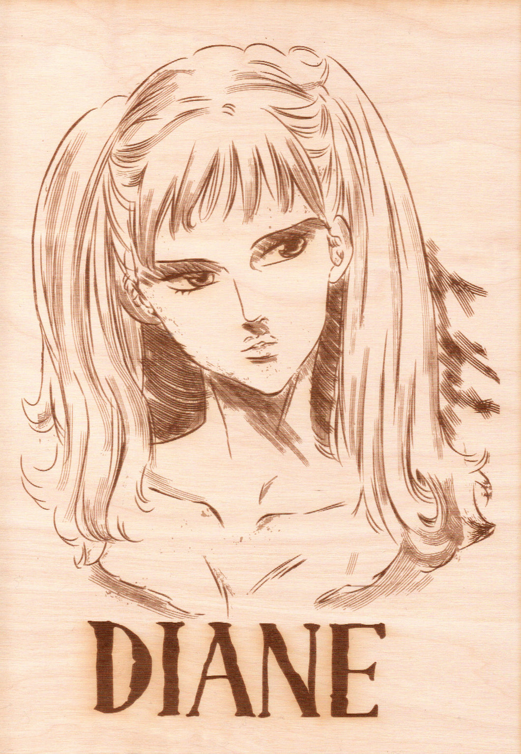 Seven Deadly Sins - Diane Wooden Wanted Poster - TantrumCollectibles.com