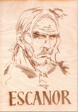 Seven Deadly Sins -Escanor Wooden Wanted Poster - TantrumCollectibles.com