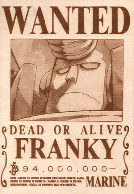 One Piece - Franky Wooden Wanted Poster - TantrumCollectibles.com