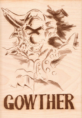 Seven Deadly Sins - Gowther Wooden Wanted Poster - TantrumCollectibles.com