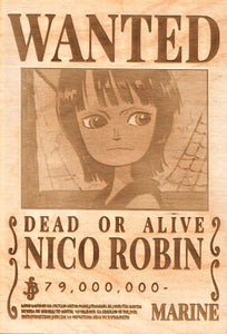 One Piece -Kid Nico Robin Wanted Poster