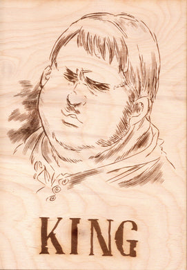 Seven Deadly Sins - King Wooden Wanted Poster - TantrumCollectibles.com