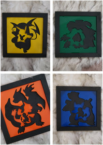 Pokemon Evolution 3D Wall Art (Set of 4)