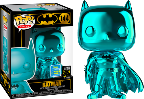 Pop! Heroes- Batman [ Teal Chrome ] (Summer Comic Convention 2019)
