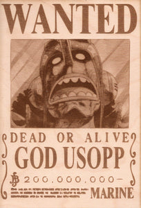 "One Piece: Wood Printed ""Wanted Poster""- God Usopp"