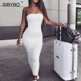 Sibybo Off Shoulder Strapless Sexy Women Dress