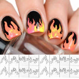16pcs/lot  Fire Nail Holographic Strip Tape Nail Art Stickers Thin Laser Silver Stripe Sticker
