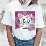 Sailor Moon Anime t shirt top tee shirt 90s women tshirt female femme korean style ulzzang t-shirt Graphic grunge aesthetic