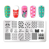 NICOLE DIARY Lace Flower Animal Nail Stamping Plates Marble Image Stamp Templates Geometric Manicure Printing Stencil Tools
