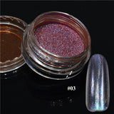 1pcs Silver Mirror Magic Pigment Powder Manicure Dust Shiny Gel Polish Nail Art Glitter Chrome Powder Decorations BE04S
