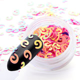 Multi Color Holographic Nail Sequins Glitter Horse Eye Shaped Dazzling Nail Flakes Paillette Manicure Nail Art Flakes Decoration