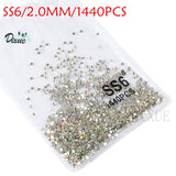 High light Rhinestone crystal AB clear SS3-SS40(1.3mm-8.4mm) Non Hotfix flatback Rhinestones for Nails 3D nail art  gems045