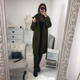 Ladies Hooded Long sleeve Slim Windbreaker Thin Coat Cardigan
