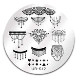 UR SUGAR Lace Flower Nail Stamping Template Stainless Steel Stamping Plate Animal Pattern Nail Art Stamp Stamping Template Tool