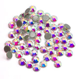 Glass Clear Hotfix Rhinestone Flat Back Iron On Strass Crystal Stones SS16 SS20 SS30 Hot Fix Rhinestones For Clothes Decorations