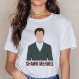 Shawn Mendes Funny Printed T Shirts Women Harajuku Ullzang Fashion T-shirt 90s Graphic Funny Print Tshirt Summer Top Tees Female