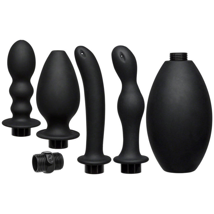 Kink Flow Full Flush Silicone Anal Douche And Accessories