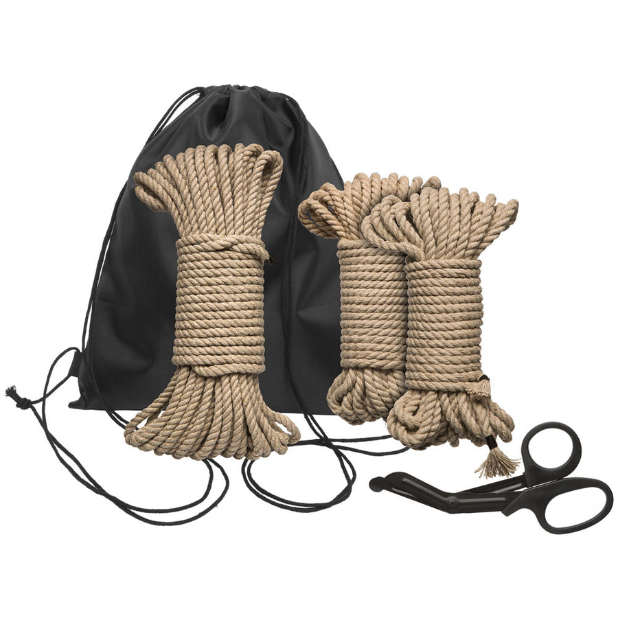 Kink Bind And Tie Initiation 5 Piece Hemp Rope Kit