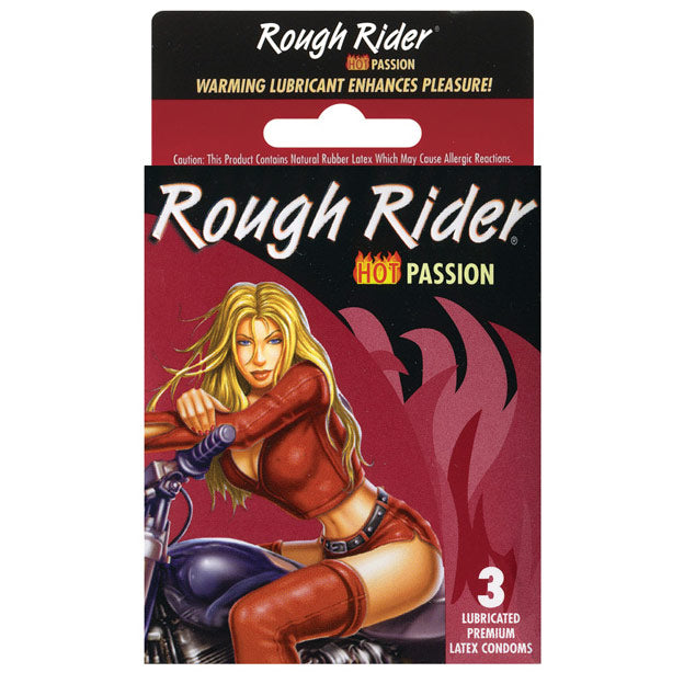Rough Rider Hot Passion 3 Pack Condoms