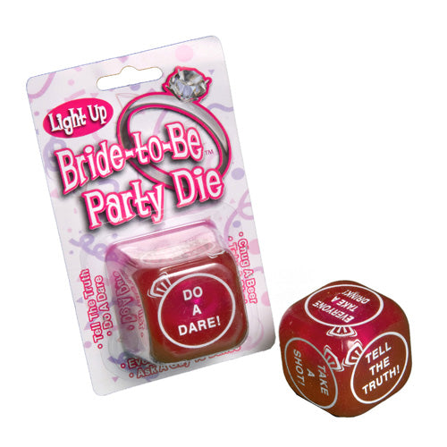 Flashing Bride To Be Party Dice
