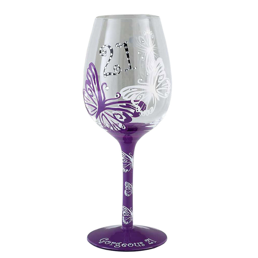 Tallulah Chic Wine Glass  Age 21