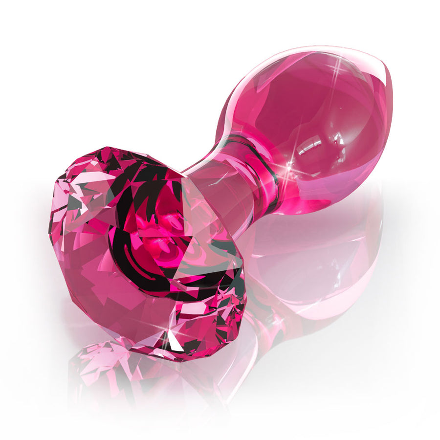 Icicles No.79 Pink Crystal Glass Butt Plug