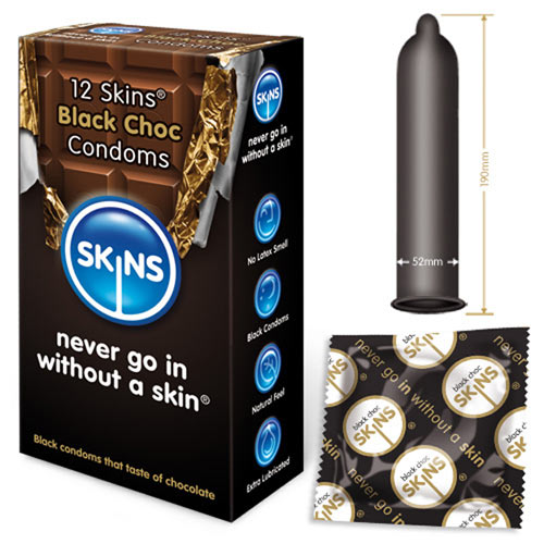 Skins Condoms Black Choc 12 Pack