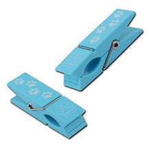 Load image into Gallery viewer, Paw Print Boca Clips, Blue