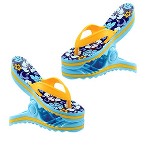 Flip Flop Boca Clips, Blue & Yellow