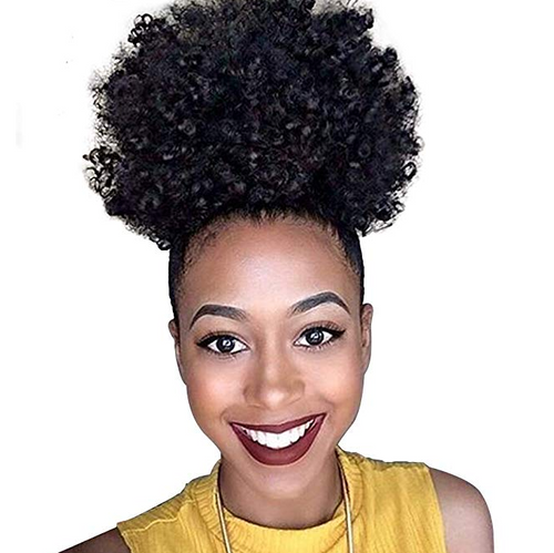 2019 Afro Kinky Curly Pony Tail Short Drawstring Puff Ponytail
