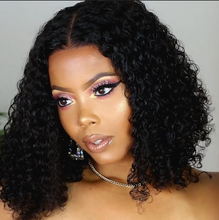 Load image into Gallery viewer, Best Selling-Brazilian Curly Lace Front Bob Wig