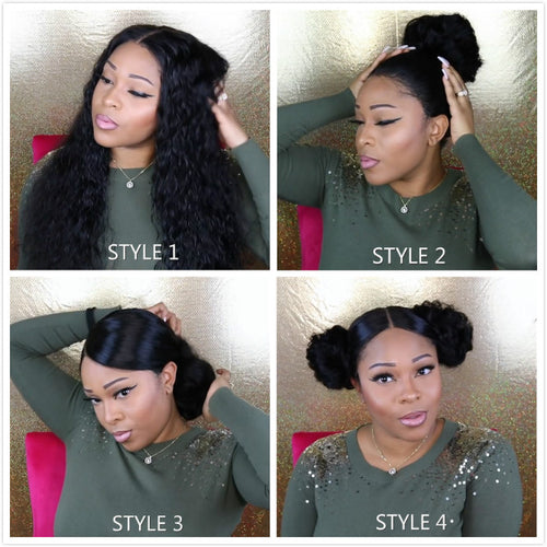 Popular Brazilian Deep Wave Lace Frontal Wigs