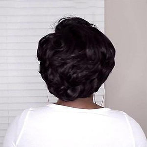 BRAZIL IMPORTED-GLAMOROUS TAPERED BOB WIG