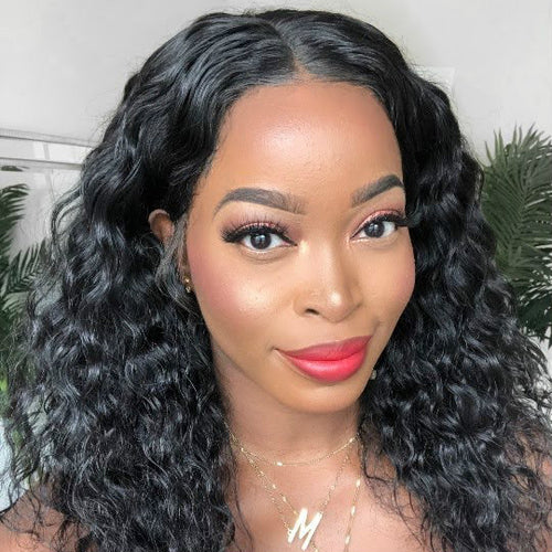 150% Density Lace Frontal Water Wave Hair Wigs