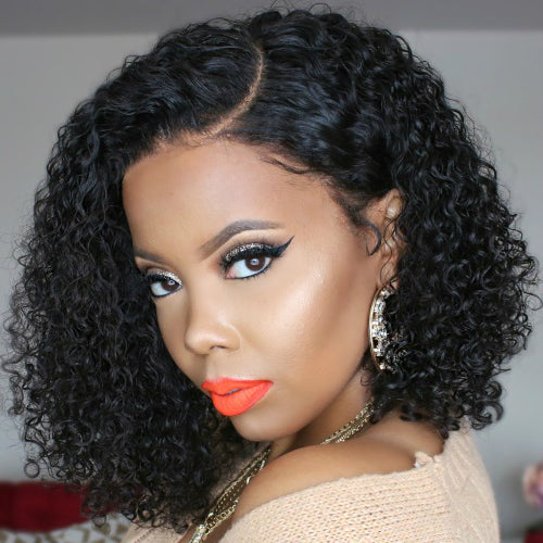 2019 New Fashion Water Wave Curly Bob Wig Natural Ponytail