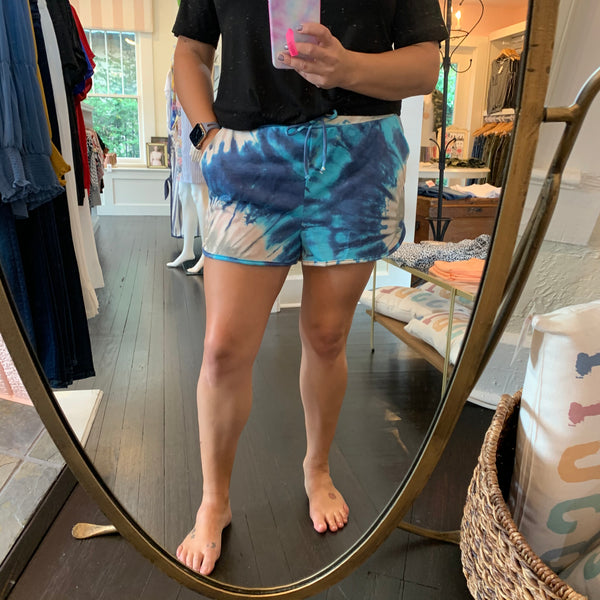Tie Dye Drawstring Shorts - Why Not Boutique