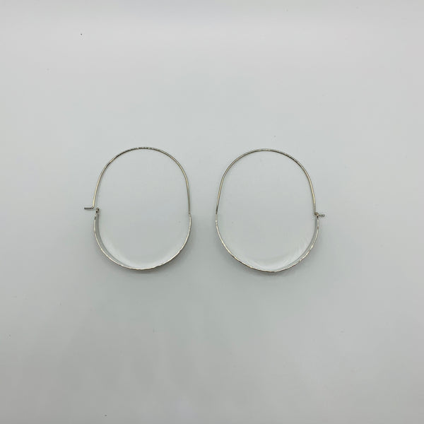 Decker Threader Hammered Metal Hoops - Why Not Boutique