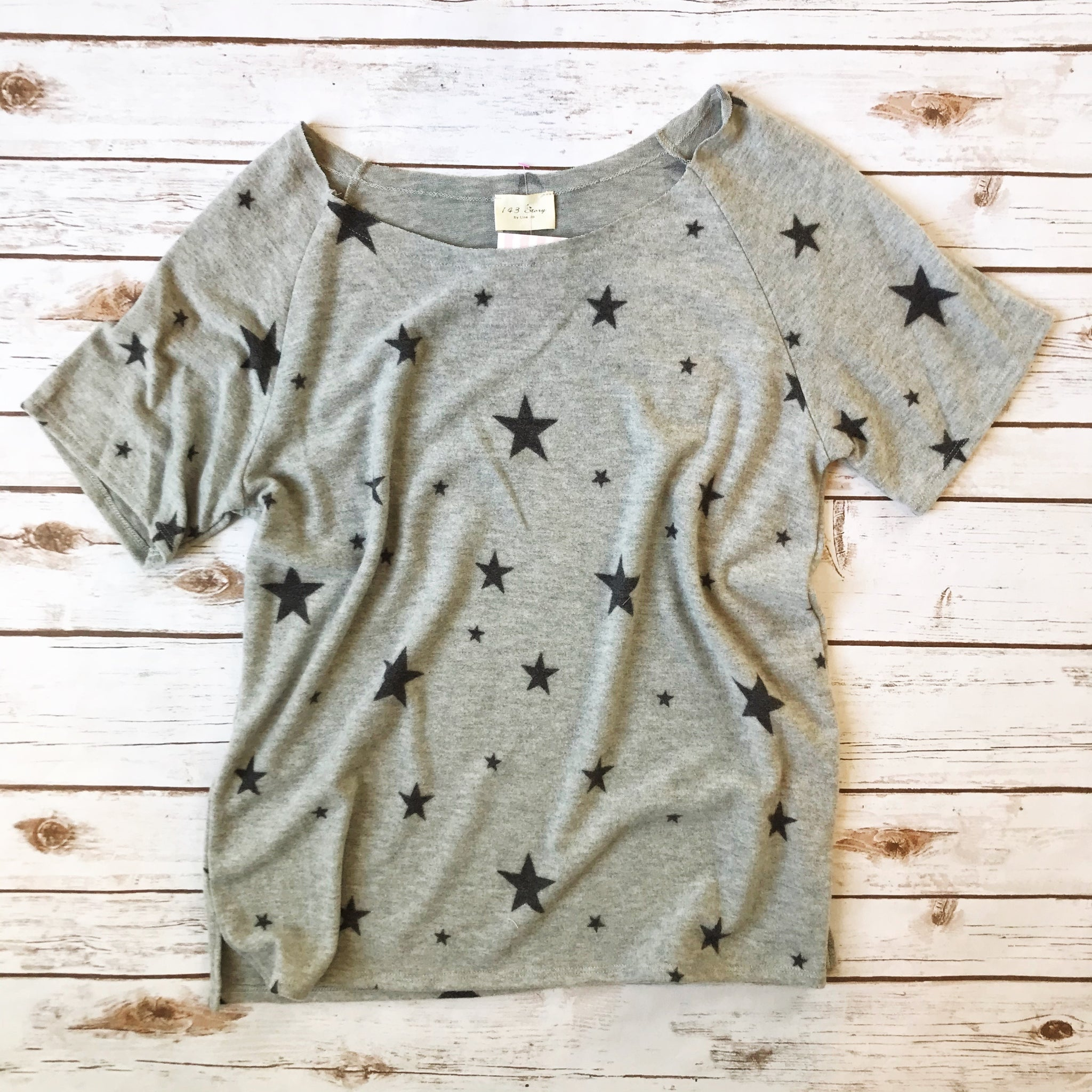 Wide Neck Star Tee - Why Not Boutique Tampa