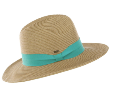 Sun Hat With Solid Ribbon - Why Not Boutique Tampa