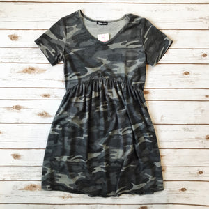Madelyn Camo Dress - Why Not Boutique