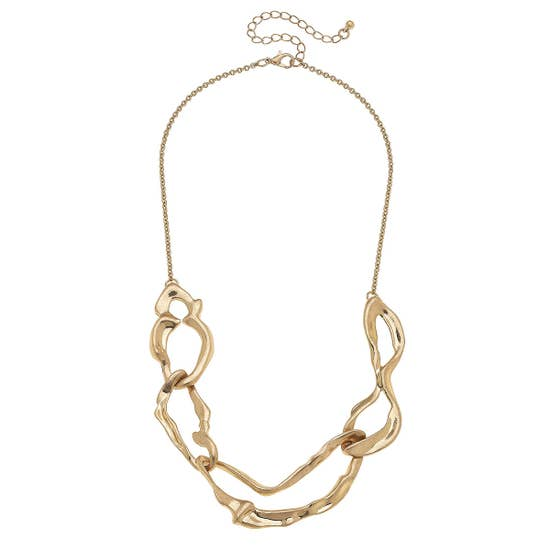 Crinkled Shape Necklace - Why Not Boutique