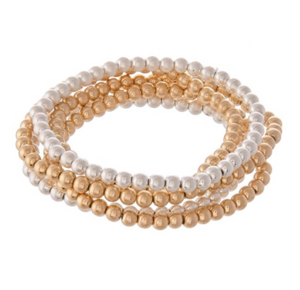 Beaded Ball Stacking Bracelet - Why Not Boutique Tampa