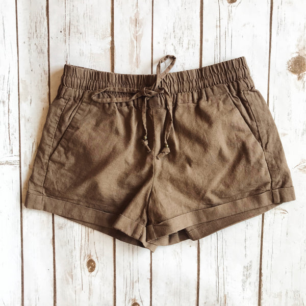 Linen Blend Shorts - Why Not Boutique Tampa