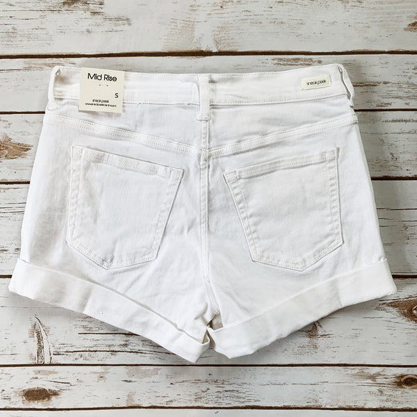 Mid Rise Cuff Denim Short - Why Not Boutique