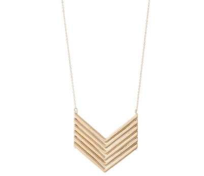 Chevron Necklace - Why Not Boutique Tampa