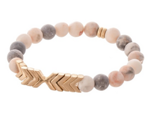 Semi-Precious Stone and Arrow Bracelet - Why Not Boutique Tampa