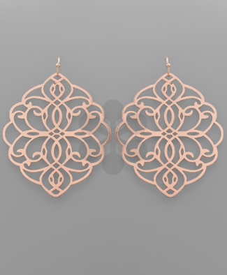 Filigree Flat Earrings - Why Not Boutique