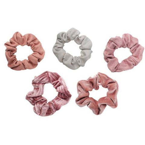 5 Pack Velvet Scrunchies